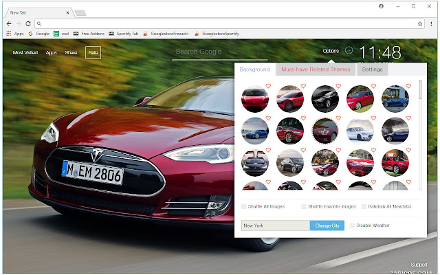 Chrome Web Store Wallpapers Cars Tesla Wallpaper Cars New Tab Themes Free Addons