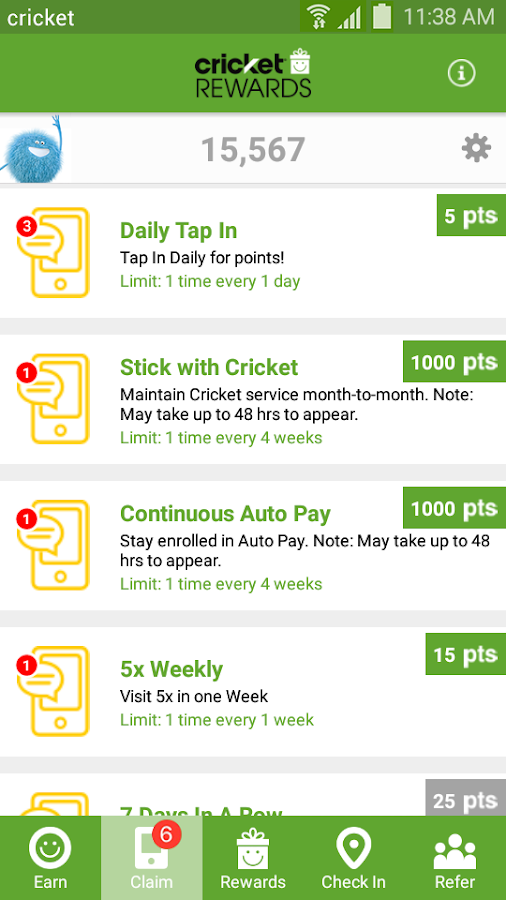 Cricket Rewards- screenshot