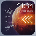 Lock Screen Theme with Weather icon