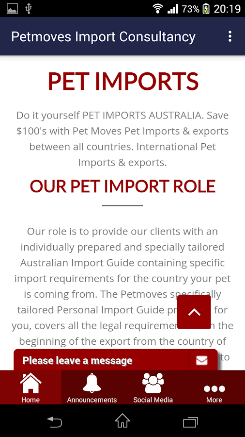 Petmove Pet Import- screenshot