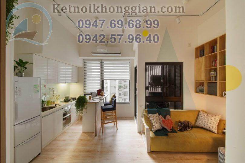 thiết kế chung cư mộc mạc