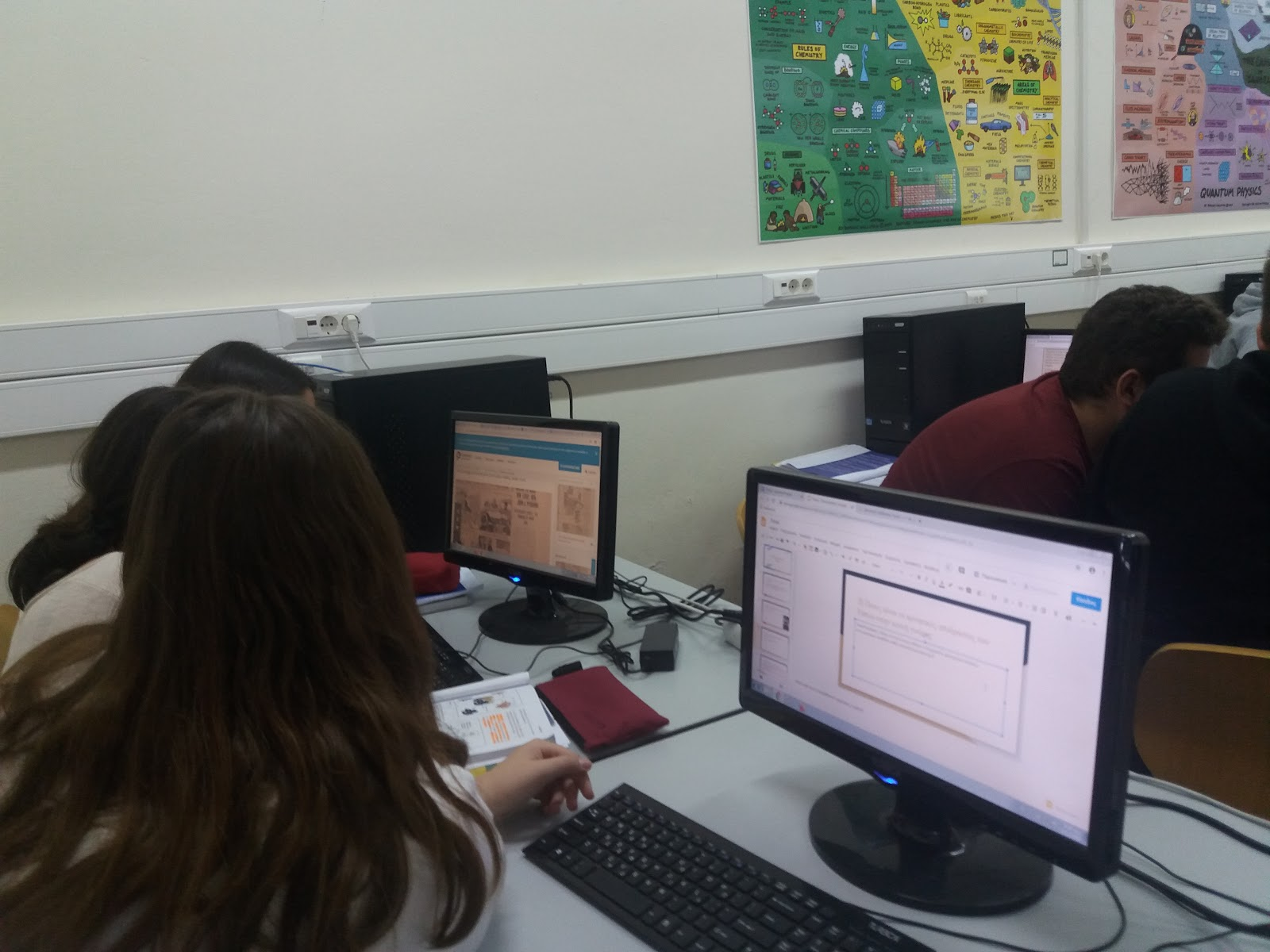 Students working in group