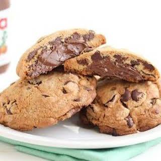 Nutella Stuffed Chocolate Chip Cookies.