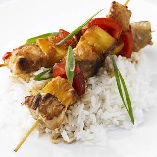 Fish and Pineapple Kebabs.