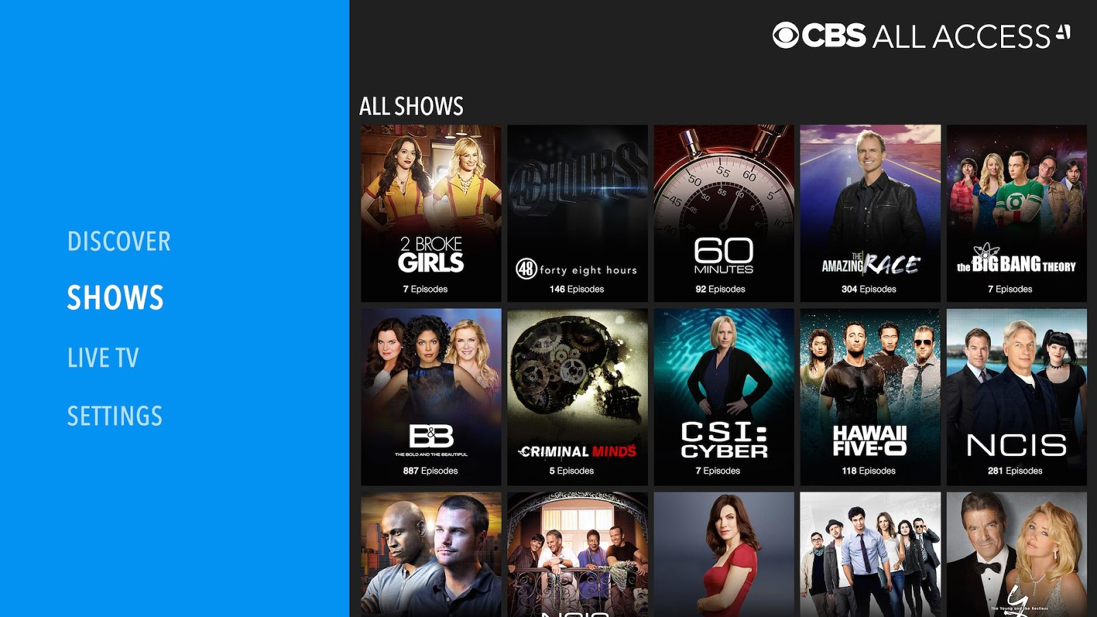CBS All Access- screenshot