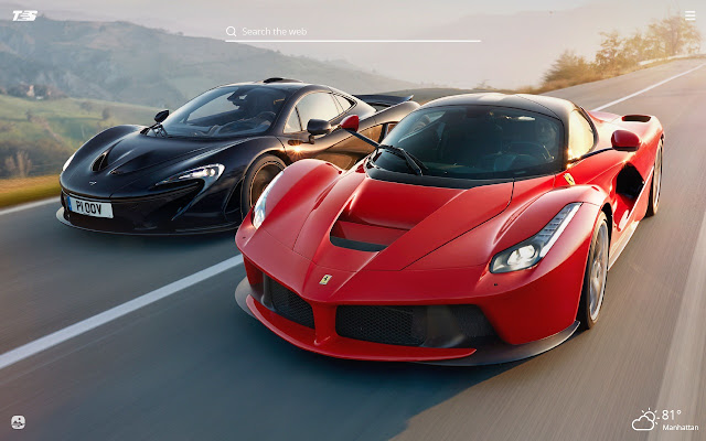Ferrari Laferrari HD Wallpaper New Tab Theme