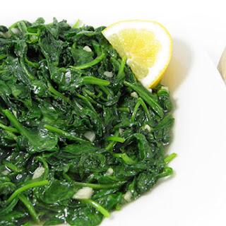 Super Healthy, Garlic Sauteed Spinach