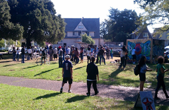 Photo: 2011 Life is Living Festival at DeFremery Park in West Oakland. On p. 15 of Oakland in Popular Memory. Photo by Matt Werner.
