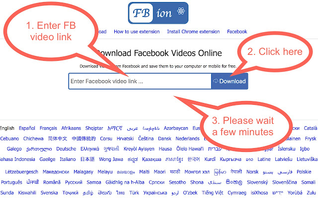 How to Download Facebook Videos Step 2