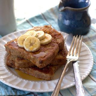Vegan Peanut Butter Banana French Toast