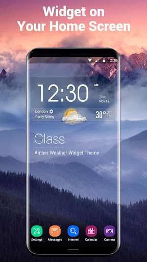 Home screen clock and weather,world weather radar Screenshot