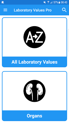 Laboratory Lab values Pro 5 screenshot for Android