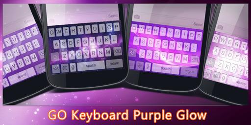 GO Keyboard Purple Glow