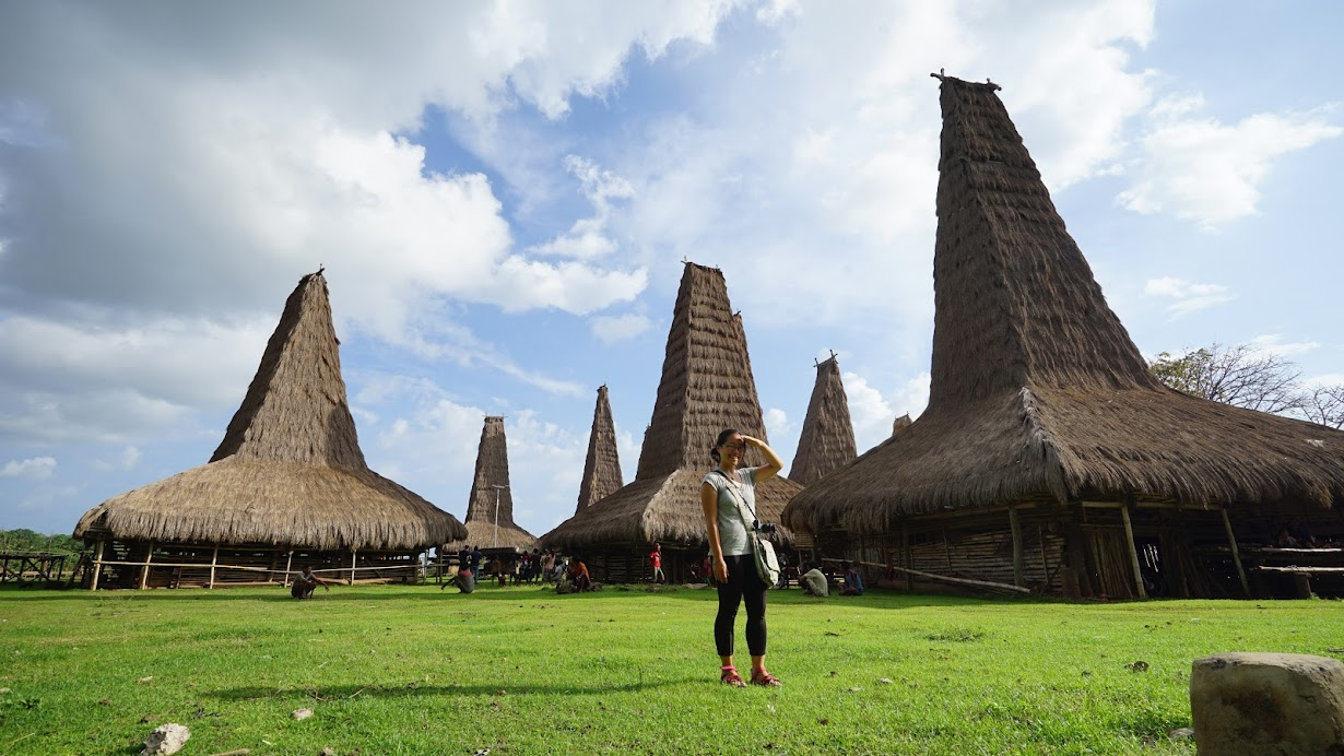 The traditional houses of Sumba Island