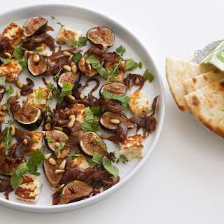 Sugar-Roasted Figs, Caramelized Onions, and Halloumi Plate