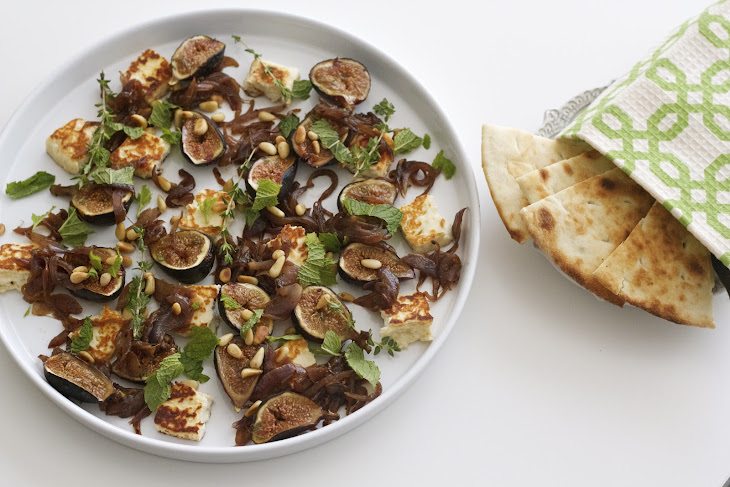 ... -Roasted Figs, Caramelized Onions, and Halloumi Plate Recipe | Yummly