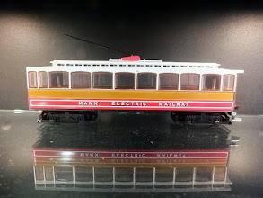 Photo: 008 A first viewing for me of the new unpowered Manx Electric tram that has been released as a special commission for the Isle of Man Railway by Oxford Diecast. It is 4mm scale 00n3 .