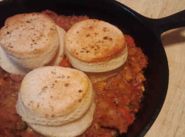 Pork-n-beef Crockpot To Skillet Stew W/biscuits