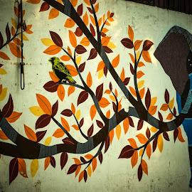 by Manasvini Munjal - Abstract Light Painting ( wall art, graffiti, art, wall )