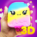 3D Squishy toys kawaii soft stress release games 2 icon