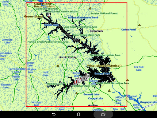 clark hill lake map Clarks Hill Lake Ga Sc Gps Fishing Map Offline App Store Data clark hill lake map