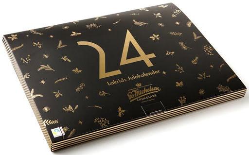 Adventskalender med chokladdragérad lakrits 2020 – Sv. Michelsen