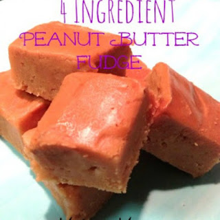 4 ingredient Peanut Butter Fudge