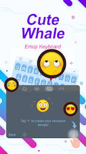 Cute Whale Theme&Emoji Keyboard - náhled