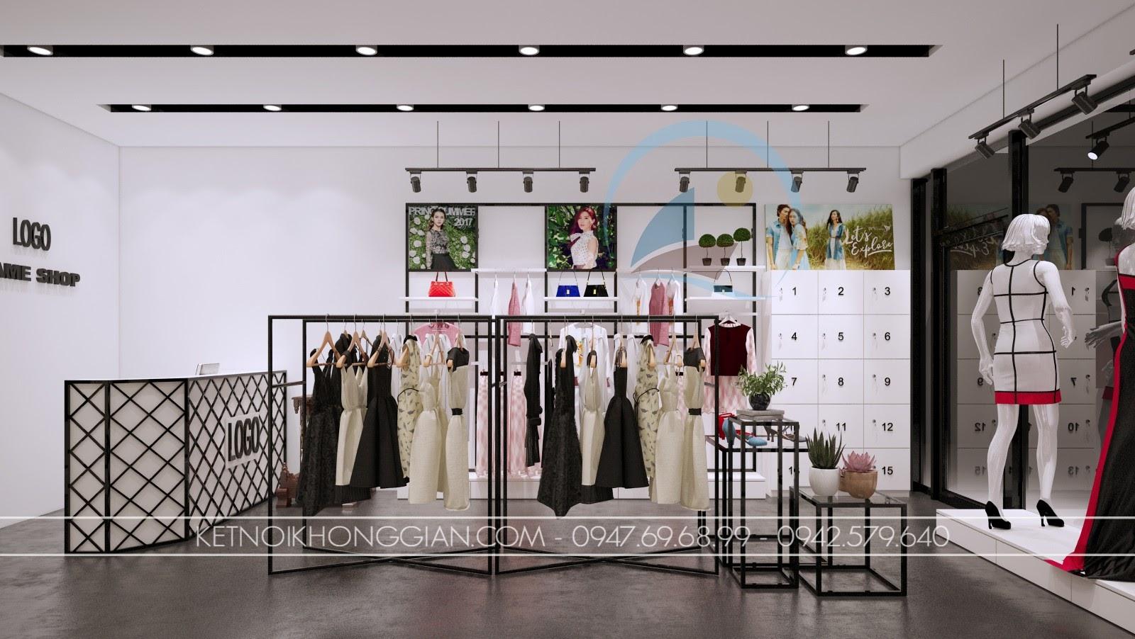 thiết kế shop thời trang giá rẻ, sang trọng