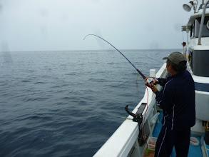 Photo: 底引き漁師のウチダさんも、一年ぶりの釣り!