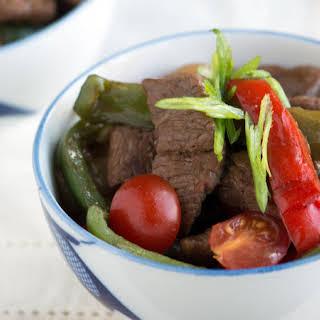 Asian Pepper Steak.
