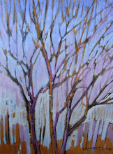 Photo: Delta Series, Violet and Gold, pastel by Nancy Roberts, copyright 2014. Private collection.