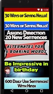 Learn English of Hindi Daily conversation Sentence 4.2 Latest MOD Updated 2