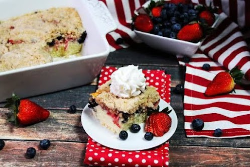 Blueberry Strawberry Buckle