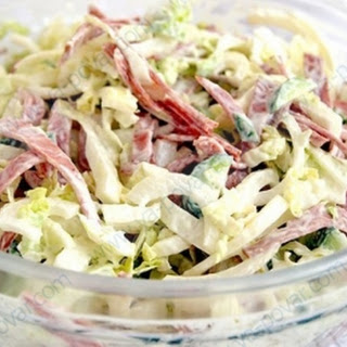 Napa Cabbage, Egg, and Ham Salad.