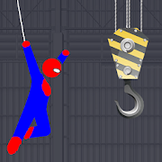 Spider Rescue Hero - Rope Swing