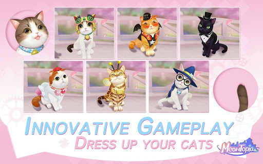 Meowtopia-Cat-themed decoration match 3 game screenshots 5