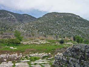 Photo: Limyra, Byzantine City Walls with imposing landscape .......... Limyra, Byzantijnse stadswallen in het indrukwekkende landschap.