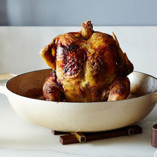 Beg, Borrow, and Steal Roast Chicken with Cilantro-Tamarind Sauce.