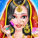 Indian girl arrange marriage - wedding rituals icon