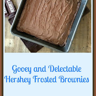 Gooey Hershey Frosted Brownies.