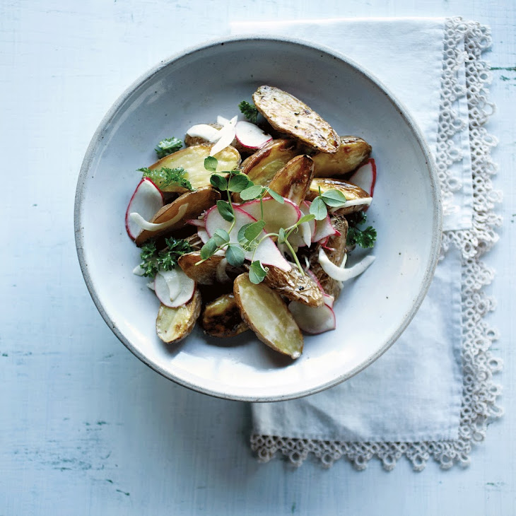 Roasted Potato Salad with Garlic Anchovy Dressing