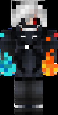 Kaneki en su forma neko elemental