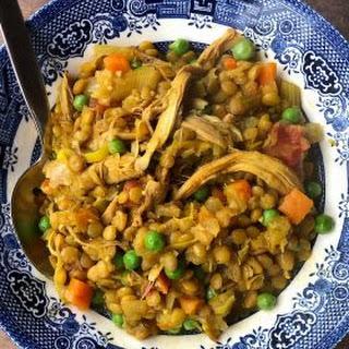 Chicken Curry Crock Pot Lentil Soup.