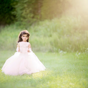 Princess by A. Caracciolo - Babies & Children Child Portraits ( princess, girl, dress, gown, sunlight, toddler )