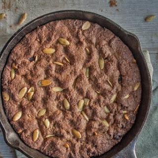 Spent Grain Skillet Cookie (with Raisins, Pumpkin Spice and Pumpkin Seeds) Recipe