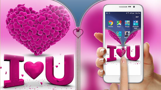 Pink-Love-Zipper-Lock