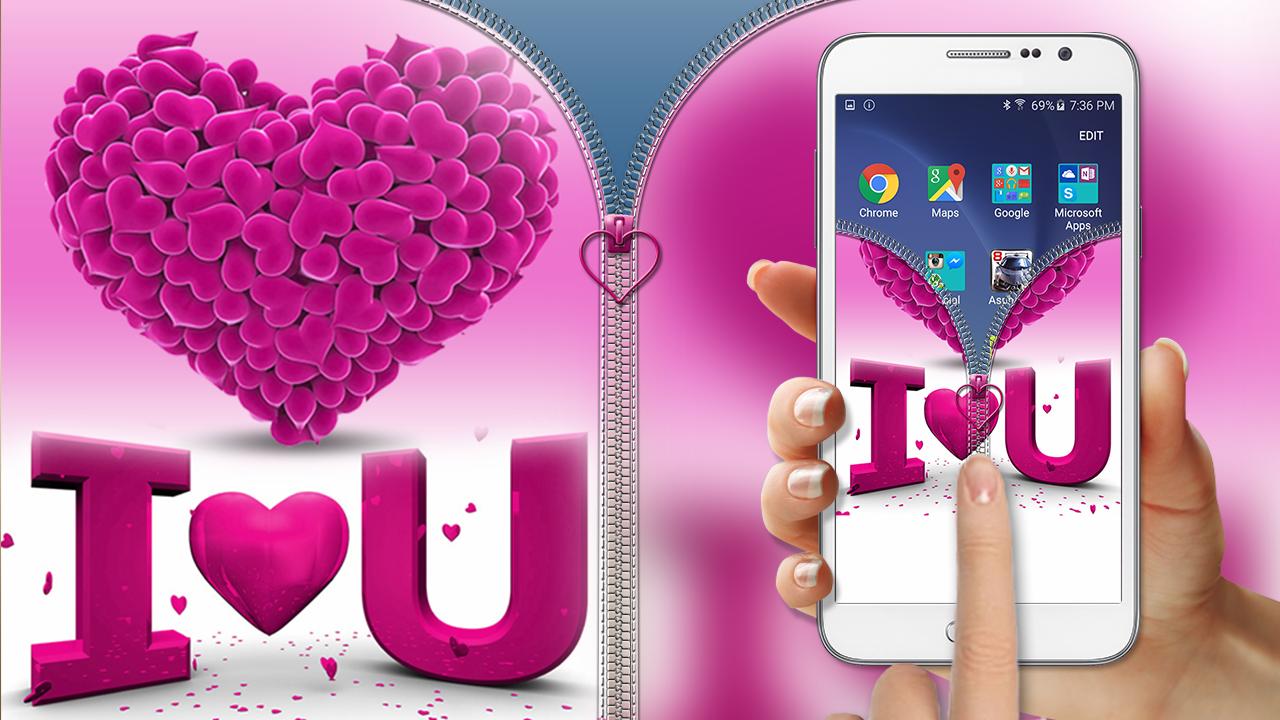 Pink-Love-Zipper-Lock 4