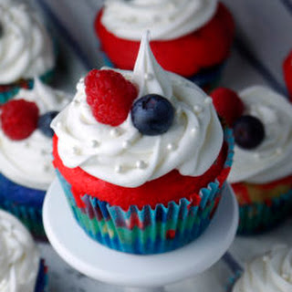 Red, White, and Blue Cupcakes for Memorial Day