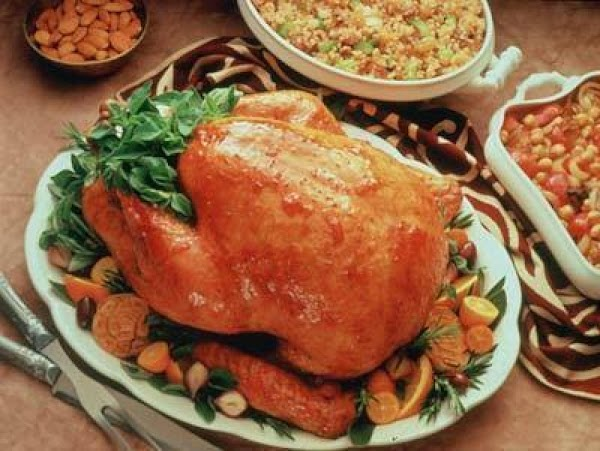 Winter Fruit Glazed Turkey Recipe